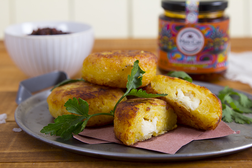 Plantain and cheese croquettes